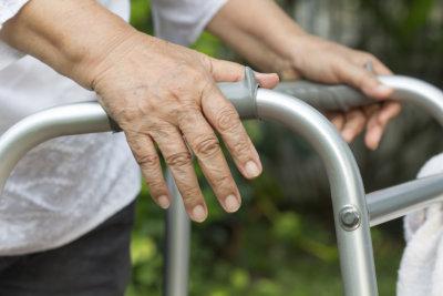 senior person using a walker